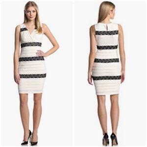 JAX ivory/black sleeveless dress ivory/black NWT 4